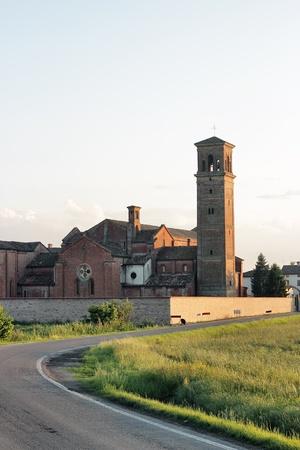 piacenza: ancient Cistercians abbey in Alseno, Piacenza, Italy Stock Photo