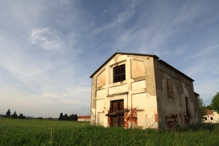 Small Abandoned Church in ruin, Oleggio, Italy photo