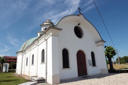 motto: small white church in Motto Gritta, Italy