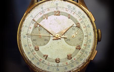 analogue: Old Analogue watch, macro shot Stock Photo