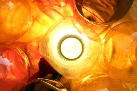 orange plastic bottle background photo
