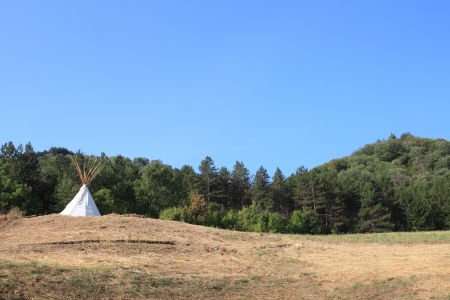 teepee: teepee at the top of the hill