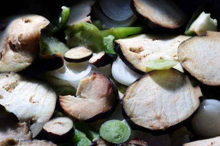 mixed vegetables cooking in a casserole Stock Photo - 15734995