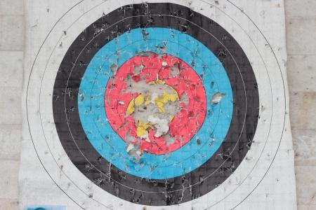 dilapidated: Dilapidated archery target close up