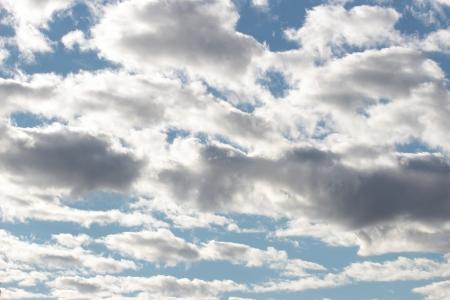 cloudy blue sky on a sunny autumnal day