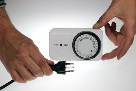 time clock: time clock socket with european plug