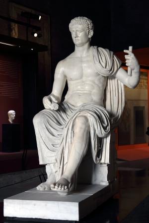 Marble statue of emperor Caesar Augustus