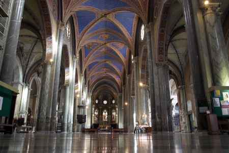 Interior view of Saint Mary above Minerva church  in Rome