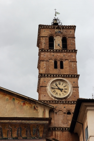 detail of the tower, The Basilica of Our Lady in Trastevere , Rome Stock Photo - 17032818