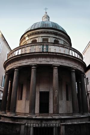 San Pietro in Montorio church in Rome, Italy, in its courtyard the Tempietto, a small commemorative martyrium built by Donato Bramante
