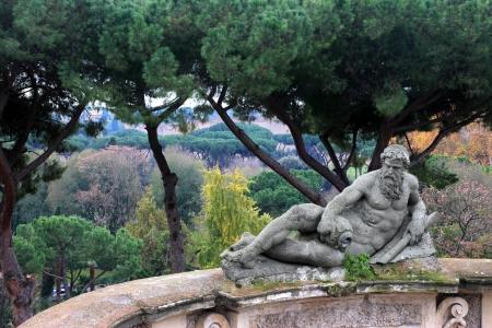 ancient statue in Villa Celimontana , Rome, Italy