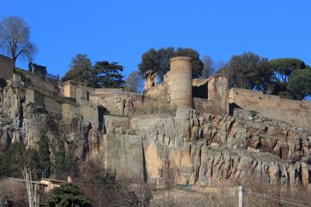 etrurian: Albornoz rocca in Orvieto Umbria Italy Stock Photo