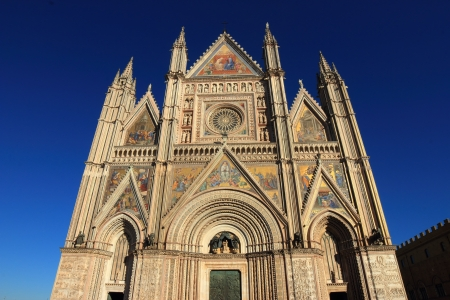 Orvieto Cathedral, Umbria, Italy  Gothic cathedral, or duomo Stock Photo - 17380233
