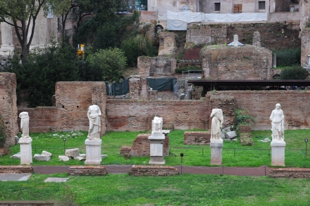 roman statues in the Forum, Rome, Italy photo