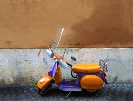 Vespa an Italian vintage colorful scooter photo