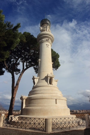 the Janiculum Lighthouse by  Manfredo Manfredi, was granted to Rome in 1911 by the Italians from Argentina  photo