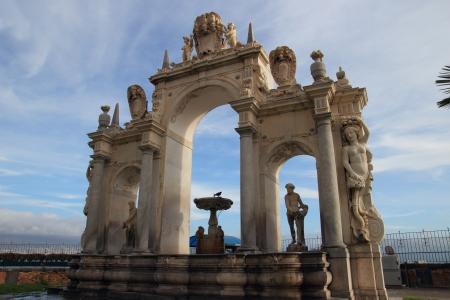 italian fountain: Classic Italian fountain in Naples, Italy