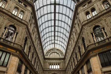 indoor view of the Galleria Umberto Primo in Naples in Italy