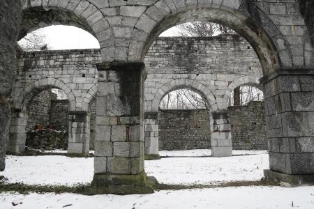 romanesque: San Martino romanesque church in Gattico, Italy