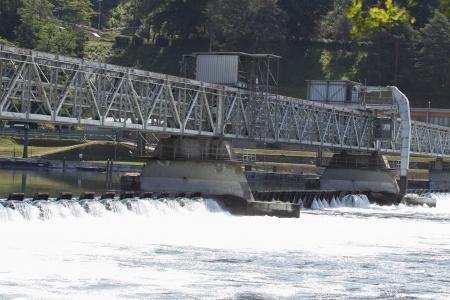 dike: dike on Ticino River in Castelletto Sopra Ticino, Italy
