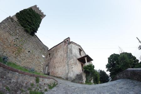 burg: the old town Montecatini Alto, Pistoia, Italy