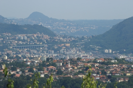 canton: Chiasso overview in the canton of Ticino, Switzerland Stock Photo
