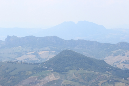 appennino: the countryside surrounding San Leo in Romagna region, Italy