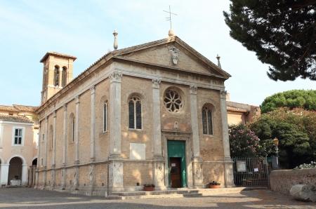 the church of Santa Aurea in Ostia Antica, Rome Stock Photo