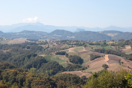 apennines: The Pietra di Bismantova ,geological formation in the Reggiano Apennines,Italy