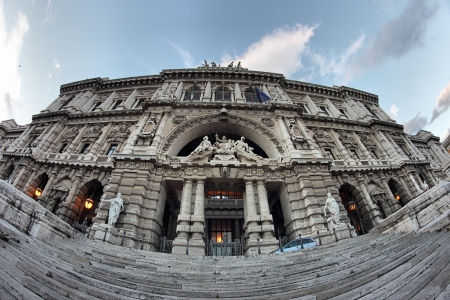The Palace of Justice, seat of the Supreme Court of Cassation in Rome, Italy photo