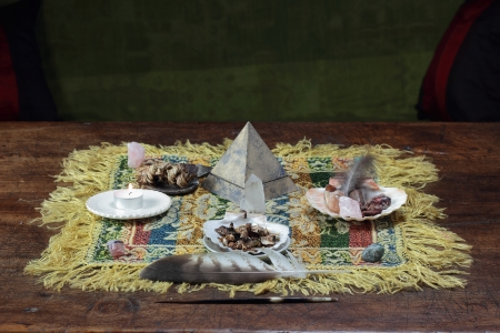 shamanic: mesa, metaphysical altar and shamanic tools