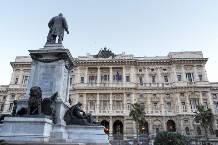 cavour: Piazza Cavour named after Camillo Benso the Count of Cavour, Rome , Italy