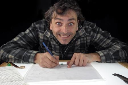animator: animator drawing on light box