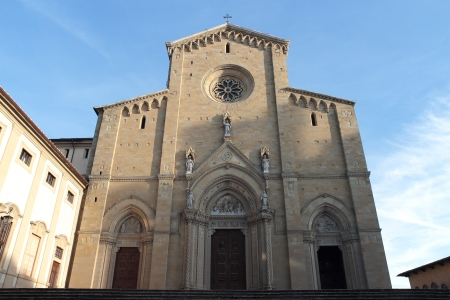 gothic Cathedral in Arezzo, Tuscany, Italy