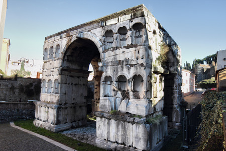 janus: The Arch of Janus quadrifrons triumphal arch, Rome, Italy