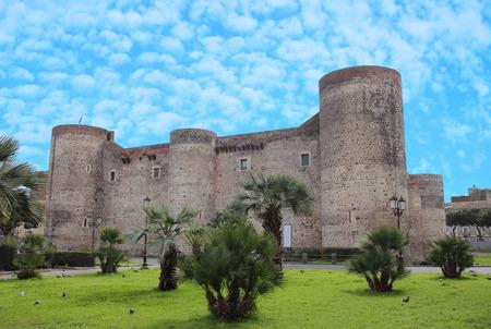 the ancient Castello Ursino in Catania, Italy