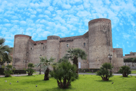 catania: the ancient Castello Ursino in Catania, Italy