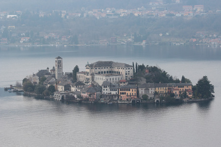 San Giulio isle , Orta Lake, Italy photo