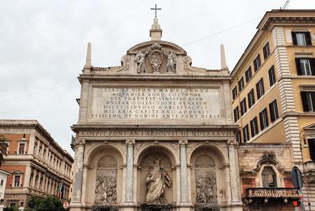 felice: the Fontana dellAcqua Felice, also called the Fountain of Moses, Rome, Italy
