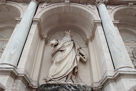felice: ROME, ITALY - MAY 23, 2014: the Fontana dellAcqua Felice, also called the Fountain of Moses, this monumental fountain is located in the Quirinale District