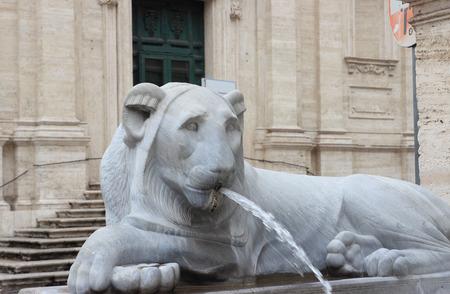 felice: The Fontana dellAcqua Felice in Rome, Italy Stock Photo