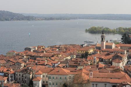 arona: Town of Arona on Maggiore Lake, Piedmont, Italy