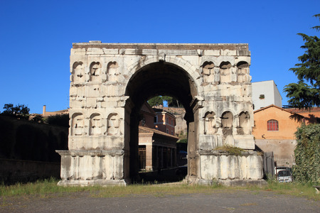 janus: The  Arch of Janus the only surviving ancient quadrifrons triumphal arch in Rome