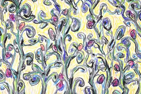 floreal: Floreal background illustration in pastel technique