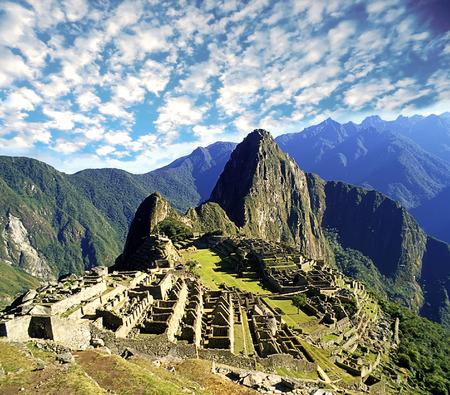 Machu Pichu ruins overview  in  Peru