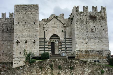 emperors: The Emperors Castle, aka Fortress of S.Barbara or Castello Svevo,medieval Landmark in Prato, Italy