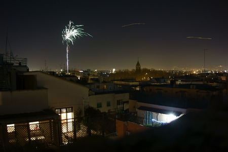 new year eve: New Year Eve Fireworks in Rome, Italy