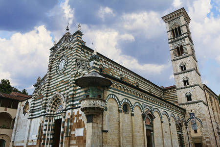 no body: Saint Stephan Cathedral in Prato, Italy Stock Photo