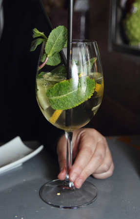 hugo: Prosecco cocktail buffet aperitif Stock Photo