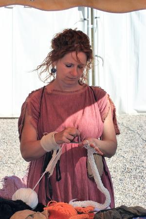 matron: ROME ITALY APRIL 21 2015: Foundation Anniversary in Rome Roman Matron knits